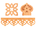 Platbands, balusters, flat decor